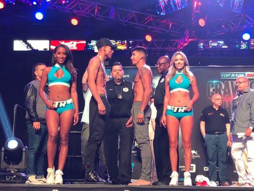 Frank Rojas and José Benavidez in WBA Welterweight Eliminator Bout