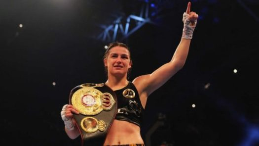 Katie Taylor Defending Against Connor At The O2.