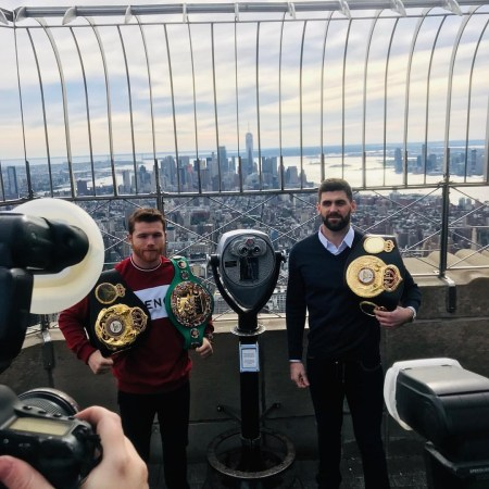Canelo and Fielding promote fight in New York