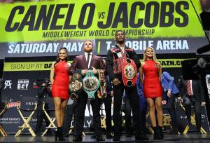Canelo y Jacobs cierran gira promocional en Los Ángeles