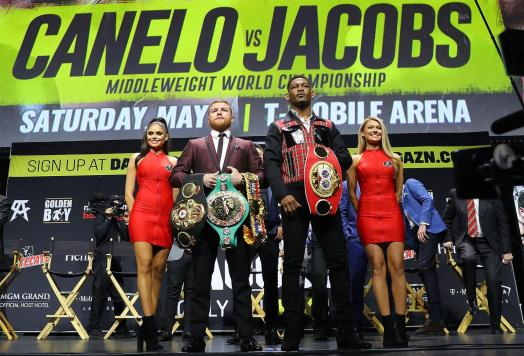 Canelo and Jacobs close out promotional tour in Los Angeles