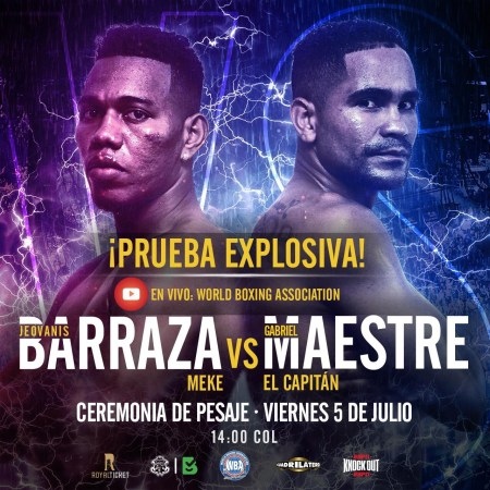 Official weigh-in Prueba Explosiva - Jeovanis Barraza vs Gabriel Maestre