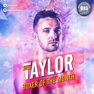 Josh Taylor- Boxeador del mes de octubre 2019