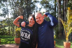 Gilbertico Mendoza and Champion Hanna Gabriels had Motivational Words With the Young Athletes