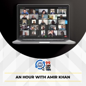 Khan spoke to fans at the AMB Convention
