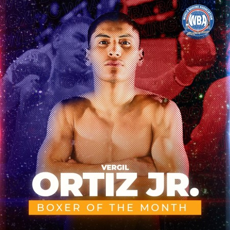 Vergil Ortiz Jr. is the WBA Boxer of the Month