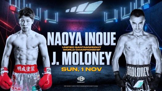 Inoue regresa a Estados Unidos para defender su faja AMB ante Moloney