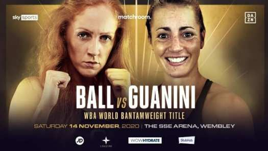 Ball and Guanini will fight for the WBA vacant bantamweight title on Saturday