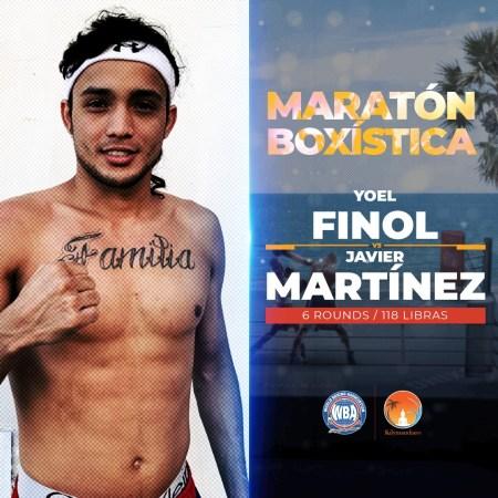 "Finol will have another test vs. Martínez at the ""Maratón Boxística"""