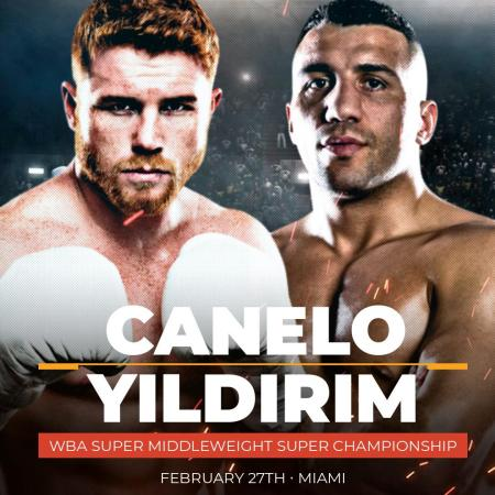 Canelo returns on February 27 against Yildirim