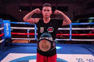 Alberto Melian is the new WBA FEDEBOL Featherweight Champion