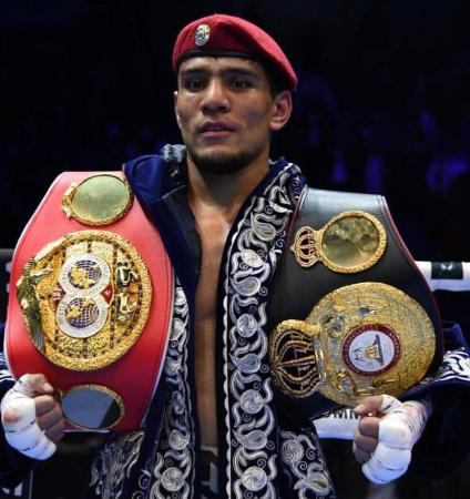 Akhmadaliev retained his WBA Super Championship before his home crowd