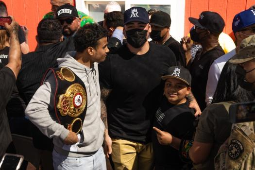 Andy Ruiz and Project Hope brought happiness to Las Vegas families