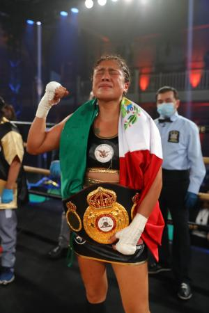 Erika Cruz Hernández is the new WBA Featherweight Champion