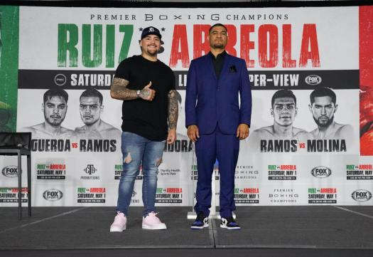 Andy Ruiz returns to the ring this Saturday for WBA eliminator against Chris Arreola