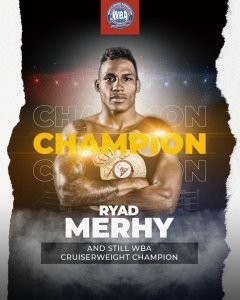 Merhy knocked out Zhang and retained his WBA belt