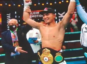 Nurmaganbet won the WBA-International title over Sandoval