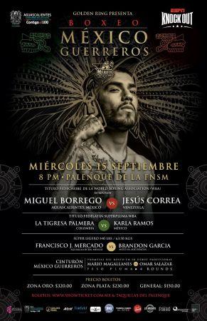 Borrego and Correa will dispute the WBA Fedecaribe belt in Aguascalientes on Wednesday
