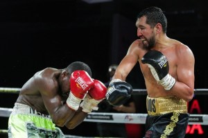 Yerbossynuly knocked out Allen in a WBA super middleweight eliminator