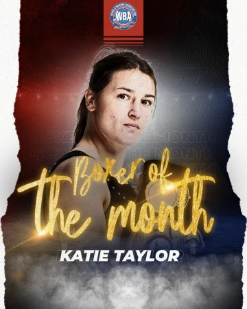 Katie Taylor was the most outstanding of September
