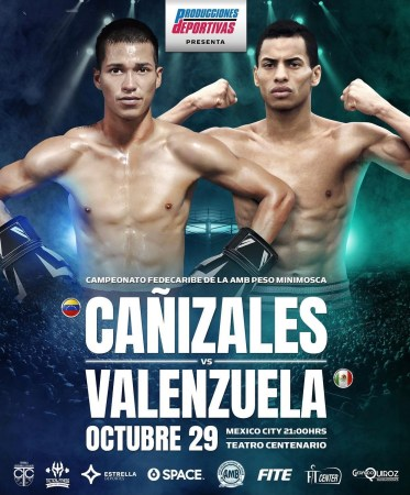 Cañizales and Valenzuela will fight on Friday for the WBA Fedecaribe belt