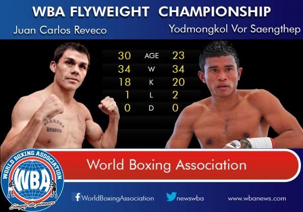 Tale of the Tape - Juan Carlos Reveco vs Yodmongkol Vor Saenghtep