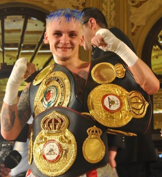 Hekkie Budler WBA Mini Flyweight Champion. Photo  Golden Gloves
