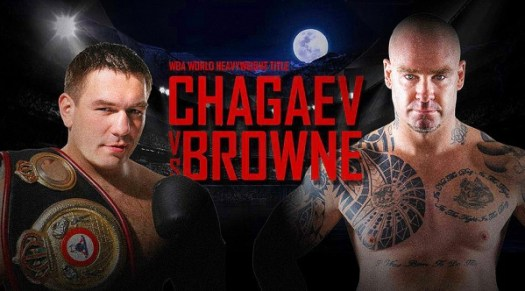 """Should all go well against Chagaev, Browne would love to knock Wilder's """"head off his shoulders."""" (Photo: mainevent.com.au)"""