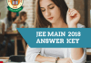 JEE MAIN 2018 ,ANSWER KEY- WBJEE.CO.IN