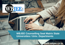WBJEE Counselling Seat Matrix State Universities / Univ. Departments-www.wbjee.co.in