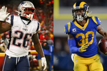 Super Bowl LII Todd Gurley and Sony Michel