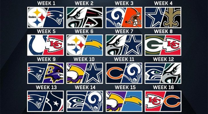 NFL Sunday Night Football Schedule