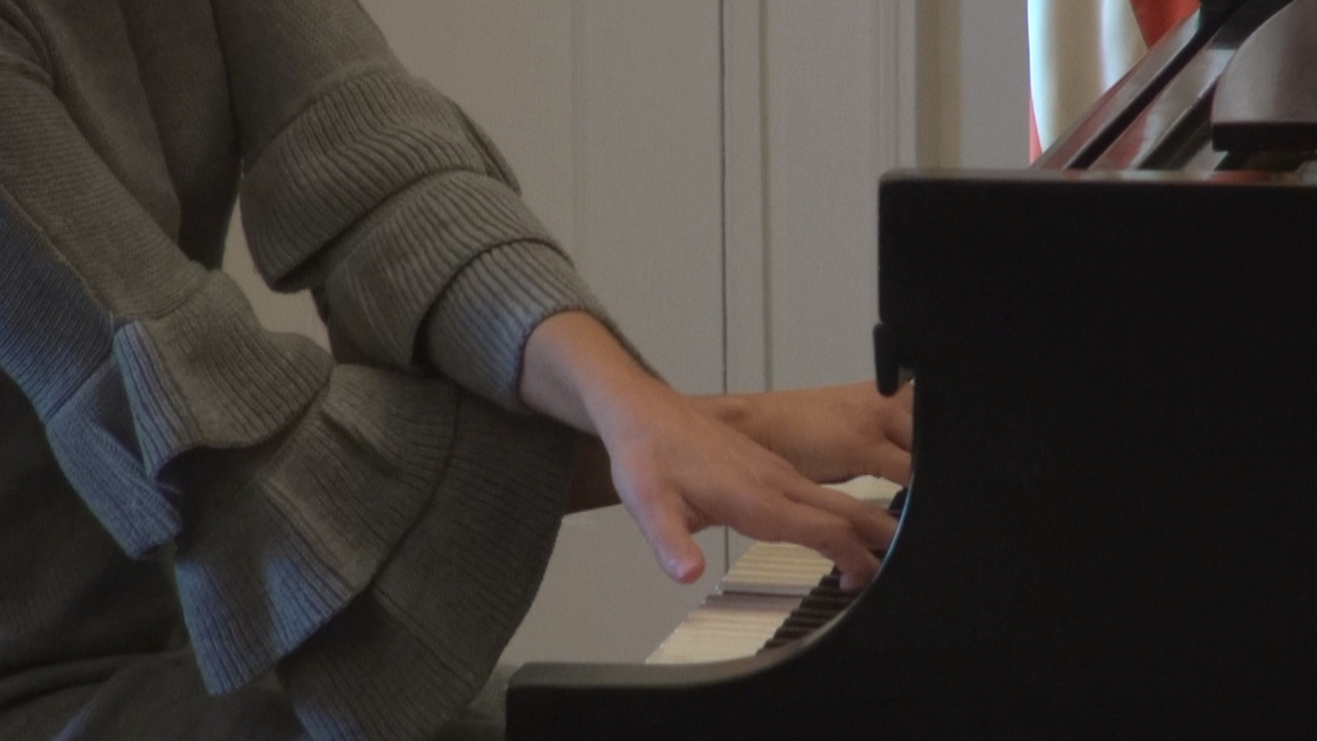 Piano player at Cultural Foundation of Harrison County event