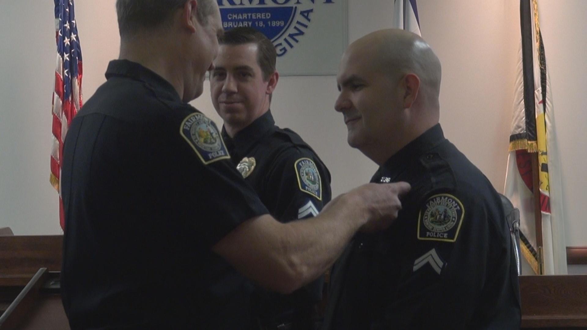 Officer promotion ceremony