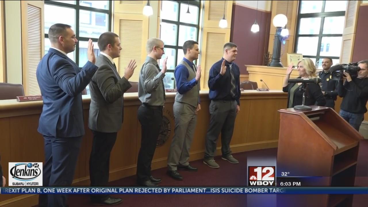 City Clerk swears in 5 new Clarksburg officers