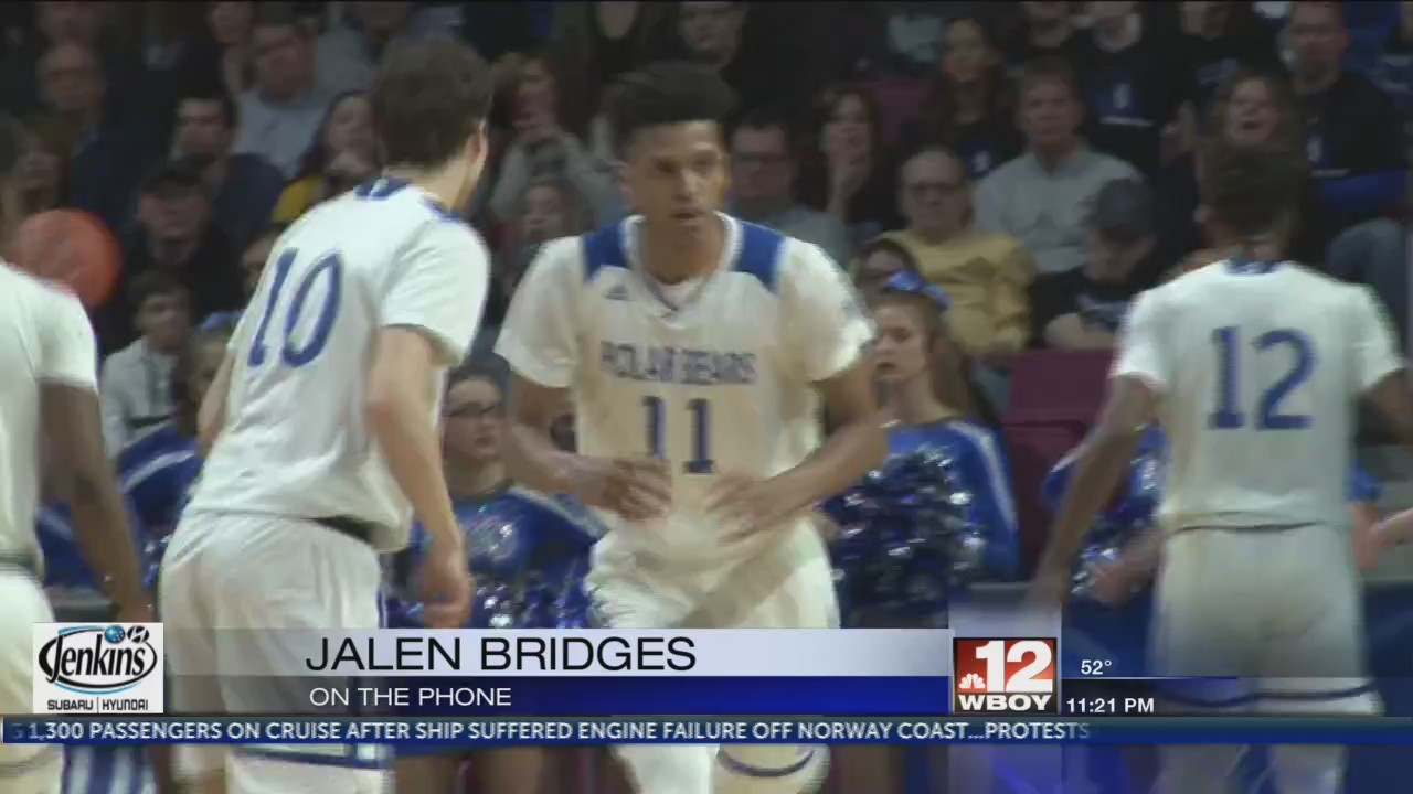 Comments from Jalen Bridges on winning the Evans Award