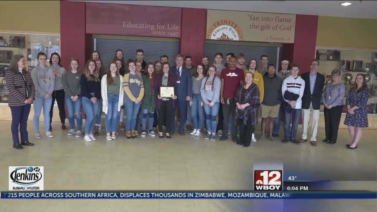 Trinity Christian School receives Jennings Randolph Award for 100% voter registration