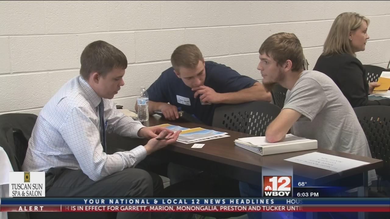 "Area students learn job skills in ""Reverse Job Fair"" in Monongalia County"