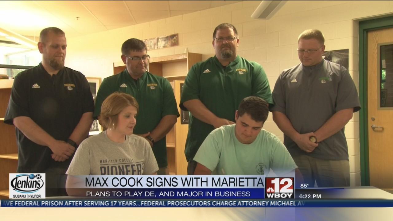 Max Cook signs to play football at Marietta