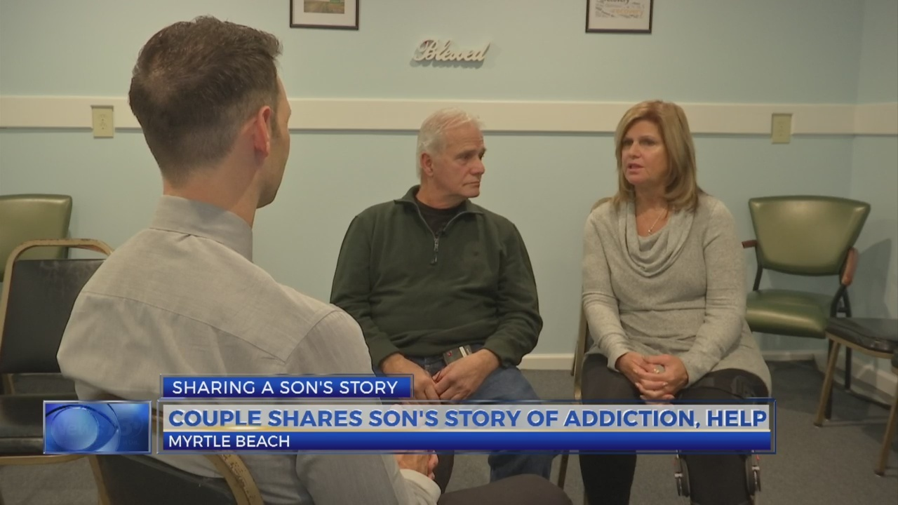 Couple shares story of son's addiction
