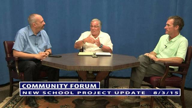 Community Forum With Ron Vecchia: New School Update
