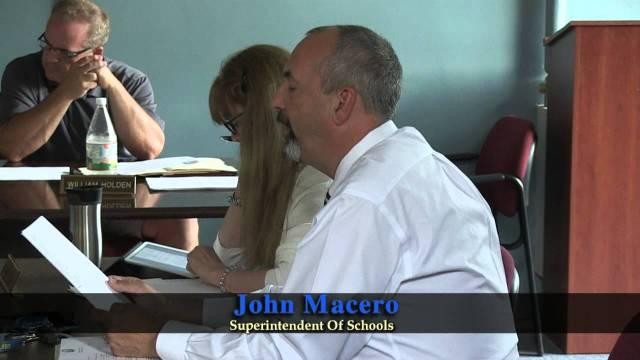 School Committee Meeting Of August 17, 2015