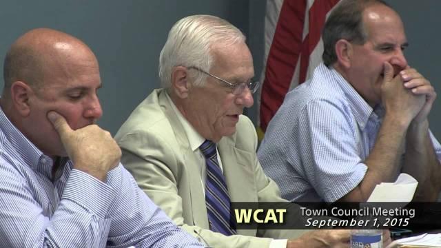 Winthrop Town Council Meeting – September 1, 2015