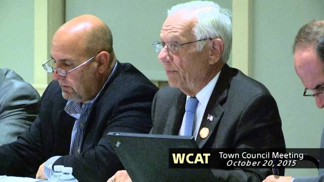 Winthrop Town Council Meeting and Fall Forum of October 20, 2015