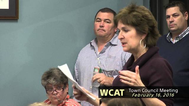 Winthrop Town Council Meeting of February 16 2016
