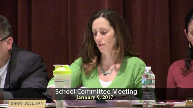 Winthrop School Committee Meeting January 9, 2017