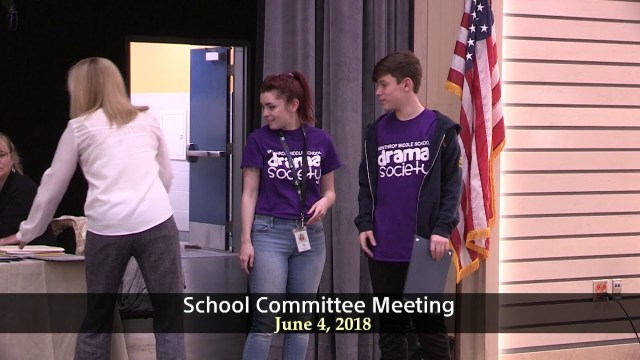 Winthrop School Committee Meeting of June 4, 2018