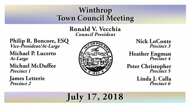 Winthrop Town Council Meeting of July 17, 2018
