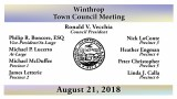 Winthrop Town Council Meeting of August 21, 2018