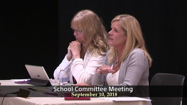 School Committee Meeting of September 10, 2018